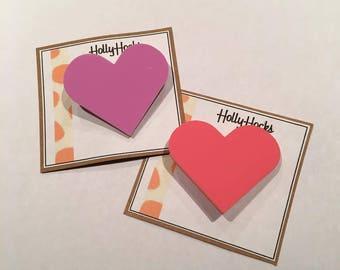 Colourful Cute Love Heart Brooch