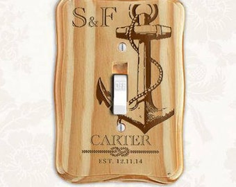Personalized Switchplate~ Nautical- Housewarming Gift, Room Decor, Wedding Gift, Birthday