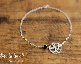 "SILVER 925 - Bracelet ""Geometric Full Moon"""