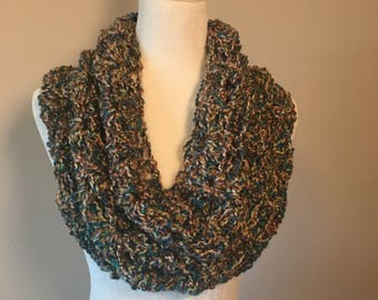 Crochet multicolor cowl / stole / infinity scarf