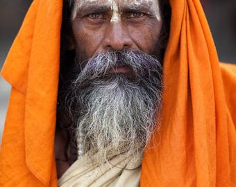 Sadhu in Orange