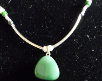 Necklace aventurine green turquoise malachite sequences shinkiang