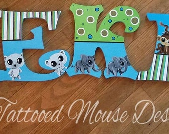 Hand Painted Wooden Letters