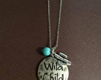 Wild Child necklace with cactus charm