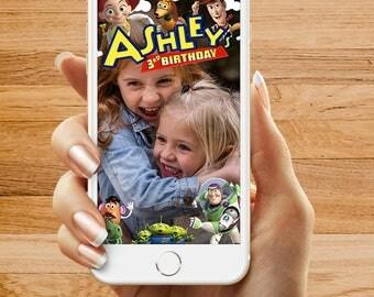 Toy Story Birthday Party Snapchat Geofilter, Happy Birthday Filter, Custom Snapchat Geofilter