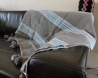 Plaid / Moroccan handmade bedspread