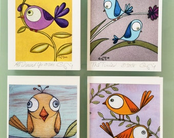Pretty Birds Boxed Greeting Card Set of 8