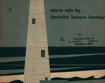 By the Sea Piano Solo + Berenice Benson Bentley + 1945 + Vintage Sheet Music