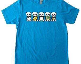 Band o' Pandas Turquoise Youth T-shirt