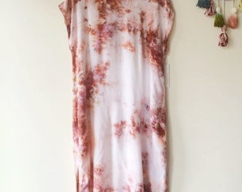 Hand Dyed Tank Dress in Tiger's Eye, Anna Joyce, Portland, OR