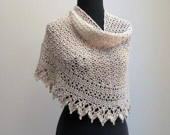 Custom Crochet Lace Shawl Scarf Wrap Cowl, Bridal Wedding, Stylish Comfort Prayer Meditation, Womens Fashion, Baby Alpaca, FREE SHIPPING