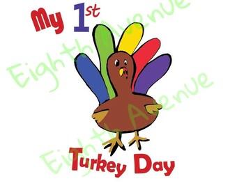SVG My 1st Turkey Day Design; My 1st Thanksgiving Svg / Dxf; First Thanksgiving SVG Design