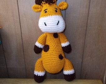Giraffe Amigurumi, Handmade Crochet Amigurumi,Basic Giraffe, Toy, Plushie, Zoo Animal, Gift, Ready to Ship, Easter Baby Gift