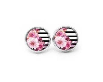 Flower Stud Earrings, Summer Earrings, Flower Earrings, Tropical Earrings, Post Earrings, Gifts for Her, Pretty Earrings, Dangle Earrings