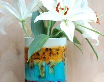 Large Statement Vase - Ceramics and Pottery - Modern Ceramics - Scottish Landscape Colors