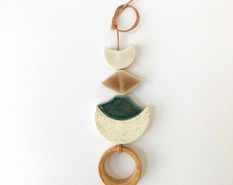 one of a kind desert rising ceramic wall hanging