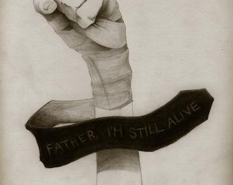 "Spinestealer art print ""And Still Fighting"""