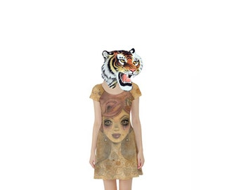 "Large ""The Hive"" Dress. Big Eyed Art Punk Rock Clothing by Megan Besmirched SALTY DAME"