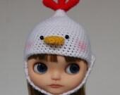 Blythe Crochet Helmet Hat - Chic Chick MILK