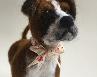 Needle Felted Boxer Dog called Buster
