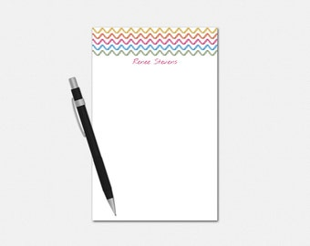 Personalized Notepad, Personalized Stationery, Chevron Sketch, Personalized Note pad, Custom, Stationary, Chevron Notepad
