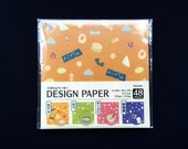Japanese  Paper - Origami Paper - 4 Patterns 48 Sheets 15 x 15 cm  Japanese Food Paper (P35)