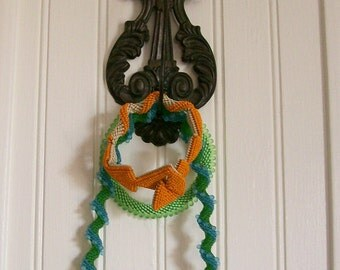 Vintage Wall Hook Victorian Cast Iron Decorative Hook for Jewelry or Keys Organizer
