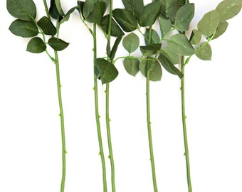 ONE Realistic Floral Stem with Foliage/Leaves ... 16.5 inches - Artificial Stems.... Floral Arrangement...DIY Wedding bouquets - ITEM 0953-1