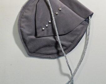 Dark gray belt pouch/purse medieval