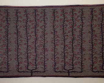 "Jacquard woven panel, Espalier Apple Trees, 54"" x 25"", by Laura Foster Nicholson, free shipping"