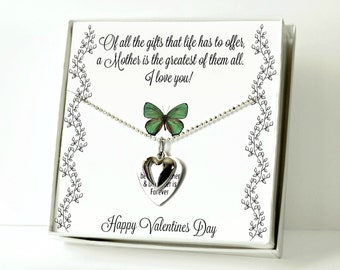Gift For Mom, Women's Jewelry, Charm Necklace, Mom Gifts, Valentines Day Gift, Quote Necklace, Heart Necklace, Gift From Daughter or Son