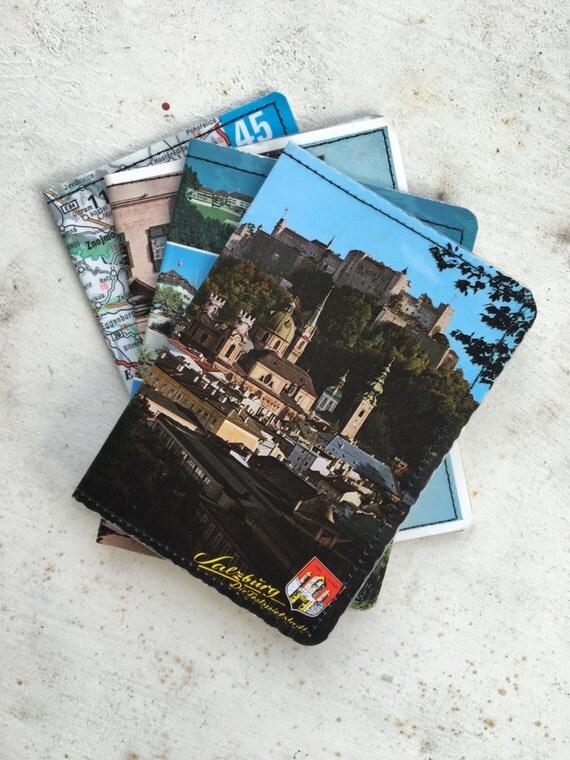 Slim Wallet- Vintage Austria Postcards- Choose 1