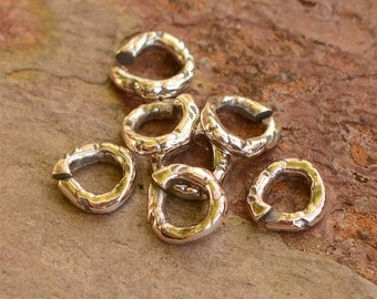 Five of Our Newest and Smallest Open Jump Rings in Sterling Silver, JR-626,  Best Artisan Jumprings Ever