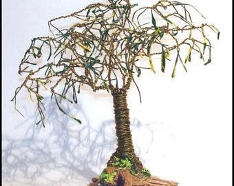 bonsai gem wire beaded tree sculpture plus books by. Black Bedroom Furniture Sets. Home Design Ideas