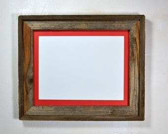 Picture frame with 9x12 mat without mat 11x14 from eco friendly wood Made in the USA