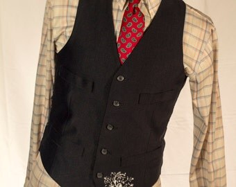 Men's Vest/Waistcoat / 44 Vintage Vest / Size 36 Medium/Large // #4004
