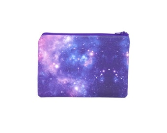 Purple Galaxy Large Bag / Nebula Star System Pencil Pouch