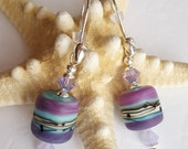 "Stunning ""Glow"" Hand-crafted Lampwork Earrings"