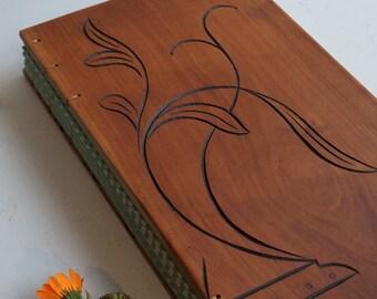 Wood photo book Scrapbook Antique reclaimed wood