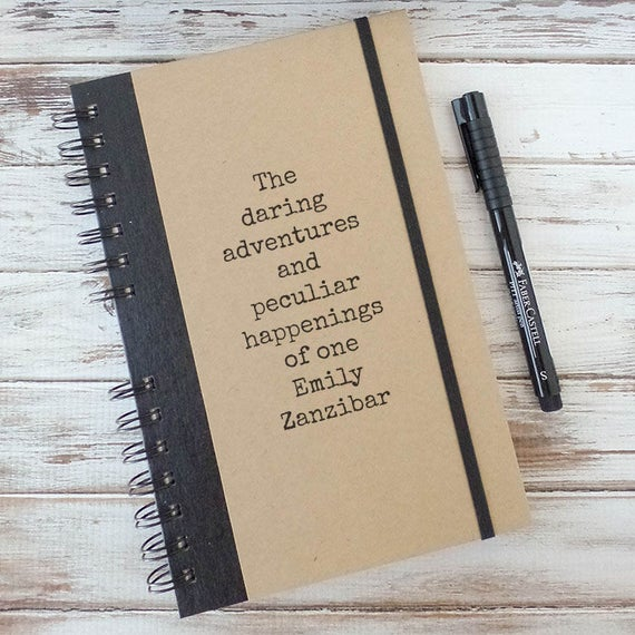 Personalized Journal Graduation Gift College High School Gift for Him Gift for Her Bullet Journal Sketchbook Weekly Planner DA4