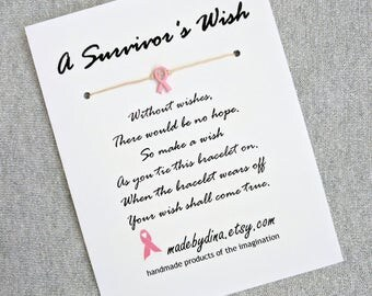 LIMITED EDITION Pink Ribbon Charm. A Survivor's Wish. The Wish Bracelet for Breast Cancer Awareness.