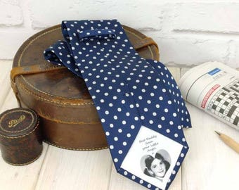 Personalised Tie, Fathers Day Gift, Custom Tie, Present For Dad, Gift for Grandad, Co-Worker Gift, Leaving Gift, Teacher Gift, End of Term