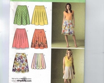 Misses Sewing Pattern Simplicity 4186 Misses Pleated Knee Length Skirt Size 6 8 10 12 14 UNCUT