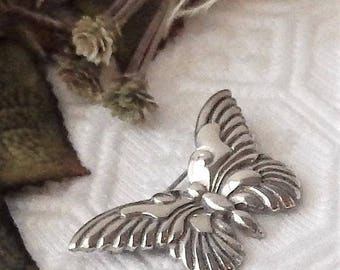 Vintage Mexico Signed EFS .925 Sterling Silver Butterfly Brooch/Pin