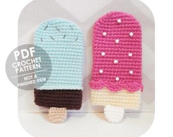 crochet pattern - ice cream popsicle phone sleeve - crochet phone sleeve cozy case - phone case crochet pattern - crochet ice cream