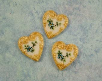 Heart Button set of 3