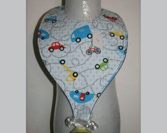 "Baby Bibs, Pacifier Bibs, Bibs with Pacifier, Bibs, Pacifier, "" Cars Trucks"""