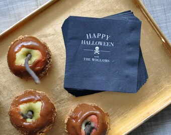 "Personalized Napkins-  ""Happy Halloween"""