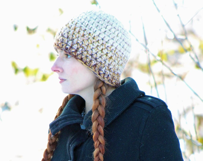 Earth Brown Ombre Beanie Hat Mens Stylish Color Gradient Gift Idea