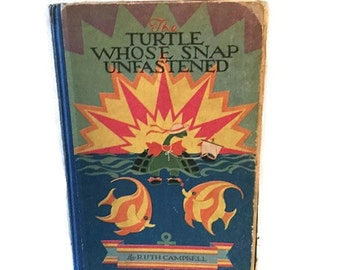 The Turtle Whose Snap Unfastened - Volland - 1927 - Art Deco illustrations - Reading copy